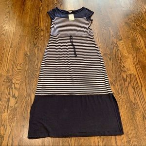Talbots Navy Stripe Dress